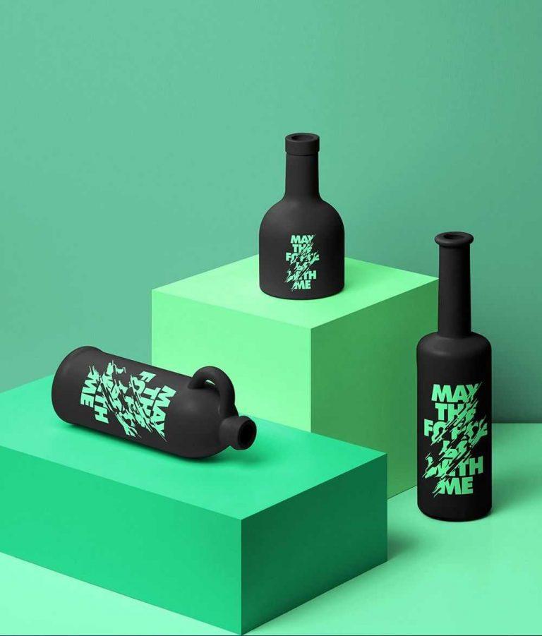 Ceramic Bottles Mockup